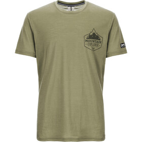 super.natural Graphic T-Shirt Heren, bamboo/killer khaki expl print